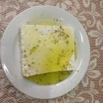 Εξοχικό κέντρο ο πλάτανος Μενού: Φέτα με φρέσκο ελαιόλαδο και ρίγανη.